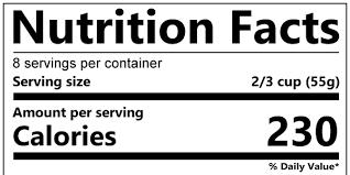 Calorie Information